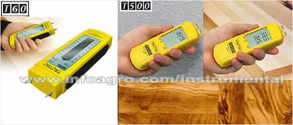 medidor de humedad para madera suelos y paredes trotec