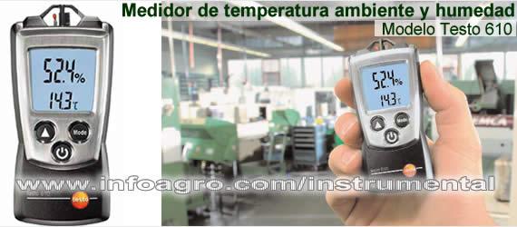 Medidor de temperatura y humedad ambiental testo 610 - Humedad relativa espana ...