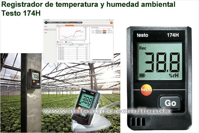 Medidor y registrador de temperatura y humedad usb testo - Medidor de humedad ...